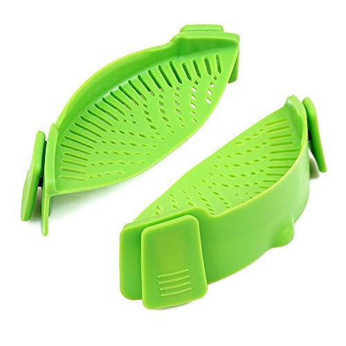 Cozihomlgs - Colador de silicona con clip, resistente al calor, aprobado por la FDA, sin BPA