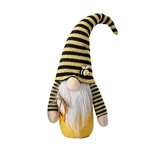 Bonito festival de abejas, muñeca sin cara, decoración creativa de abeja, modelado, vacaciones, decoración de muñecas.
