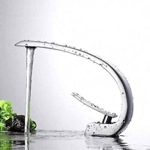 L.BAN Grifo para Lavabo de baño Cromado Grifo Monomando para Lavabo de un Solo Orificio para baño