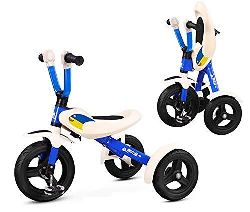 Bck 2 en 1 niños Triciclo triciclos Equilibrio Bicicleta Plegable Trike for 2 años en adelante Niños Niñas Niño 3 Ruedas del Triciclo del niño Pasear por 2-6 Años de Edad (Color : Azul)