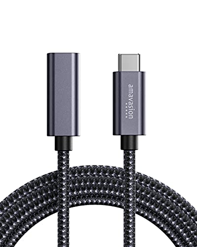 Amavasion 3.3FT/1M Cable Alargador USB C para 100W Entrega de Potencia y 10Gbps Thunderbolt 3 de Datos Transferencia Compatible con MacBook Air/Pro, 2020 iPad Pro, Nintendo Switch, Chromebook, etc
