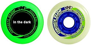 HYPER CONCRETE+G GLOW IN THE DARK 80MM/84A (4 WHEELS per pack) - inline wheels for freeride, recreational and slalom