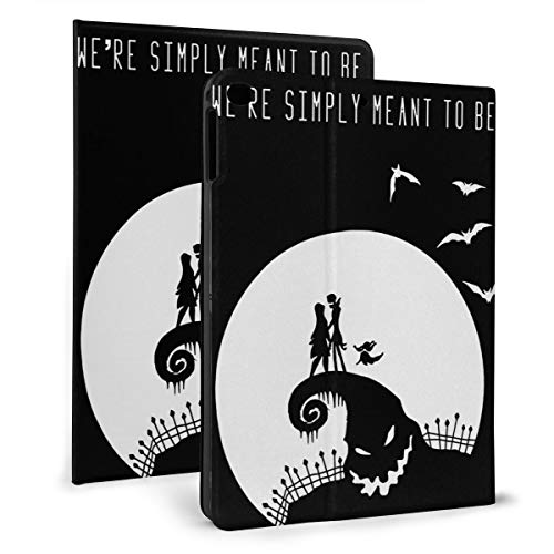 Jack Skellington Fan Art Gift Poster Lightweight iPad Protective Leather Case Auto Sleep/Wake iPad Cover and Adjustable Stand for ipad Mini 4/5 (7.9In)& ipad Air 1/2 (9.7In) - iPad air1/2 9.7