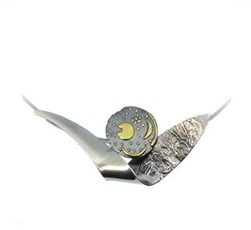 Himmelsscheibe von Nebra, Collier Barke 925/- Silber, Sternenschmuck
