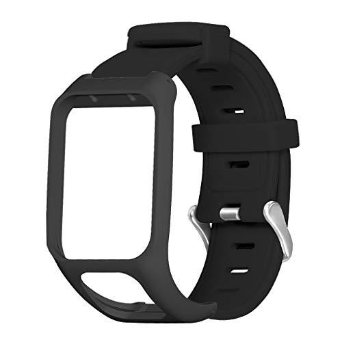 Pulseira de silicone antiarranhões para relógio Tomtom Runner3/TOMTOM Adventurer/Golfer 2/Spark 3 Cardio Music Watch