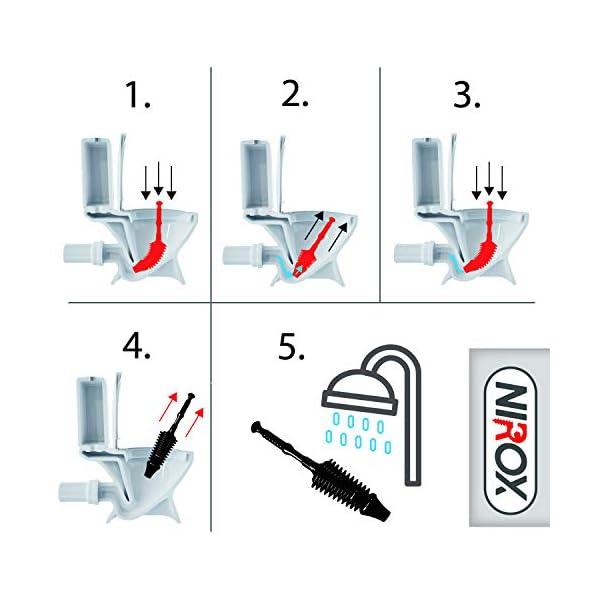 Nirox Desatascador Ventosa – Desatascador émbolo flexible de inodoro – Desatascador tuberias manual de alta succión…