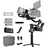 Zhiyun Crane 3S 3-Axis Handheld Gimbal Stabilizer for DSLR Cameras and Camcorder, 6.5kg Payload, Extendable Roll Axis, 12 Hours or Longer Continuous Uptime, DC-in (Pro Package)