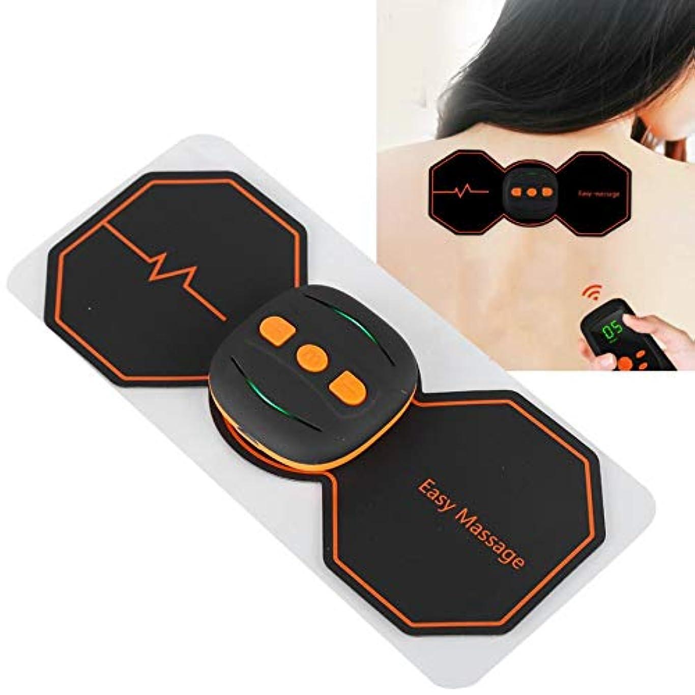 甘やかす絶縁する地域セラピー充電式ワイヤレス頸椎マッサージャーネックウエストマッサージステッカーデバイス