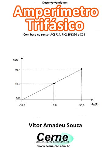 Desenvolvendo um Amperímetro  Trifásico Com base no sensor ACS714, PIC18F1220 e XC8 (Portuguese Edition)