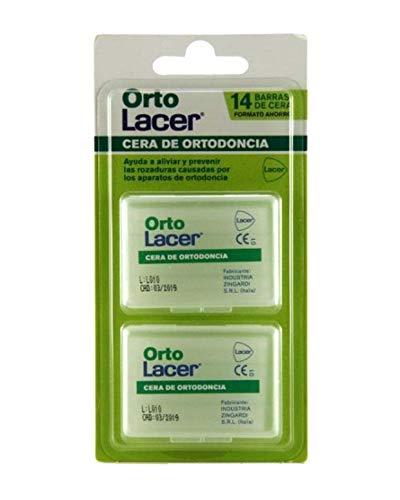LACER ortolacer cera ortodoncia pack 2x7 barras, blanco (019107249)