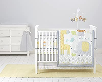 Cuddletime Globetrotter 6 Piece Bedding Collection, Gray