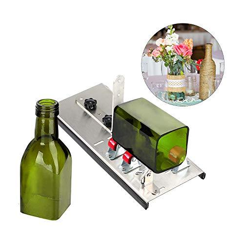 KKmoon Edelstahl Glasflaschenschneider DIY Tool Wein Bierflaschen Schneidwerkzeug mit fünf Rädern Schneidemaschine