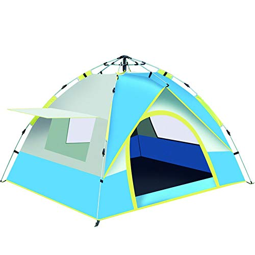 Tent camping mountaineering fishing outdoor 2 people Oxford cloth camping (Color : Blue)