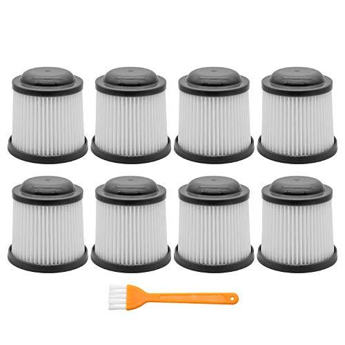 IOYIJOI 8 Pack Vac Replacement Filters for Black & Decker PVF110 PHV1810 PHV1210 BDH2000PL BDH1600PL BDH2020FLFH BDH1620FLFH. Compare to Part # PVF110