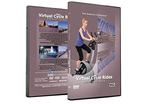 Virtuelle Fahrradtouren DVD - Athen Griechenland - für Indoor Radfahren, Laufband und Jogging Workouts