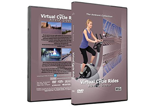 Virtual Cycle Rides DVD - Athens Greece - for Indoor Cycling, Treadmill and Running Workouts