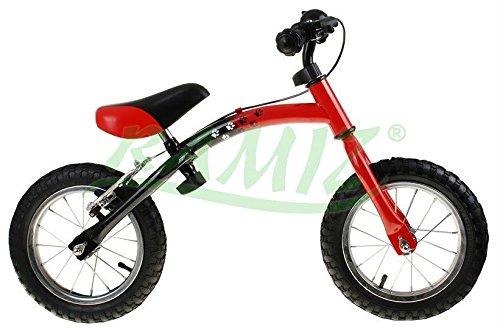 Kinder Laufrad BUMERANG WB-06CR AIR - ab 2 - 6 Jahren - 10 - 12 Zoll - einstellbar Fahrradrahmen - Kinderlaufrad - First Bike - ROT