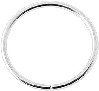 14K Gold 22 Gauge - 8MM Diameter Seamless Continuous Open Hoop Nose Piercing Ring Jewelry