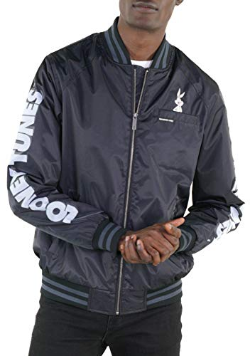 Members Only Men's Looney Tunes Bomber Jacket - Silver Grey S