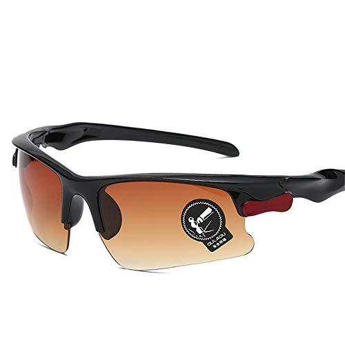 Wuxingqing Sportbril voor mannen, sportbril, mannelijk bestuurder, vrouwelijk hete zonnebril, zonnebril, nachtzicht, sportzonnebril