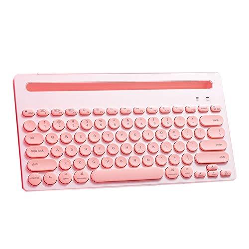 Ultradünne mechanische Tastatur Silent tragbare drahtlose Bluetooth-Tastatur mit Aufbewahrungstasche, kann 3 Geräte gleichzeitig verbinden, eine Verbindung zum Mobiltelefon, den iPad-Laptop, mit versc