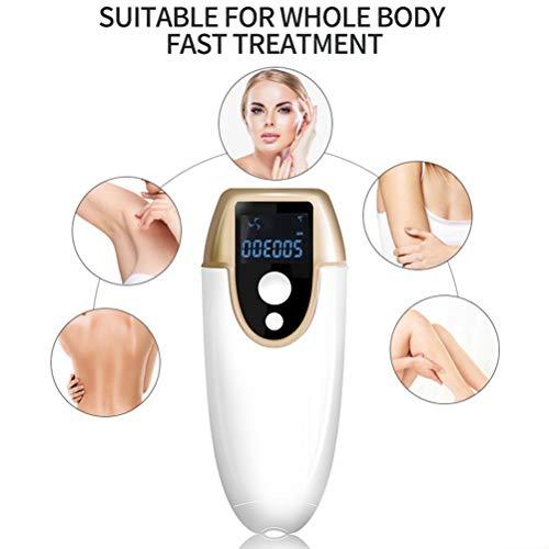 Kylewo Sistema de depilación IPL, depiladora para el hogar, depiladora láser para Mujeres y Hombres, depiladora con Dispositivo para depilación, Cara, Bikini y antebrazos