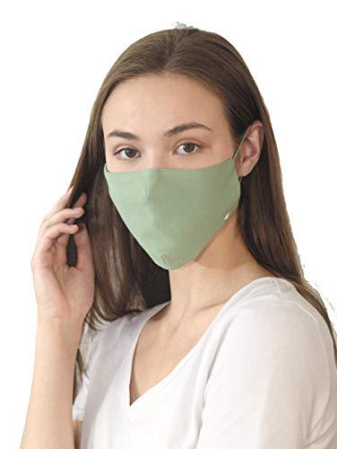 TOM TAILOR Unisex Stoffmaske wiederverwendbar, Light Mint Green, Einheitsgröße