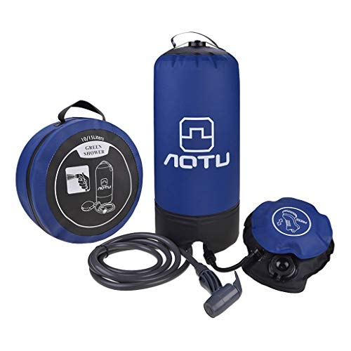 Check Out This ZQINY Camping Equipment Portable Pressure Shower with Foot Pump for Outdoor Hiking Ba...