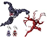 YTX Venom Action Figures-7 inch Collectible Action Figure Toys Flexible Movable PVC Model (Venom and Carnage)