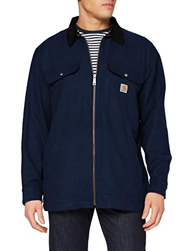 Carhartt Pawnee Zip Shirt Jac abrigo, Twilight, XL para Hombre