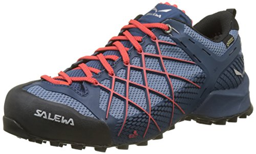 SALEWA MS Wildfire Gore-Tex, Scarpe da Arrampicata Alta Uomo, Blu (Dark Denim/Papavero 8673), 40.5 EU