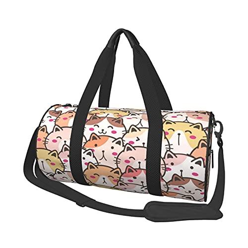 MBNGDDS - Borsone da viaggio con gatto, leggero, pieghevole, impermeabile, con tracolla, borsa sportiva da palestra per uomini e donne, Come mostrato, Taglia unica,