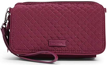 Vera Bradley Microfiber All in One Crossbody Purse with RFID Protection Raspberry Radiance product image