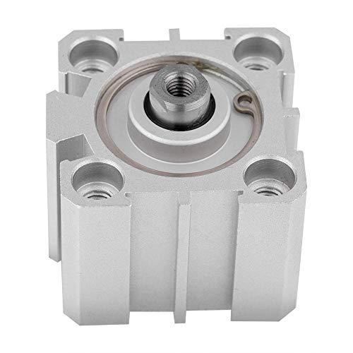 BYARSS 25 mm Diámetro 10 mm Carrera SDA25-10 de aluminio de doble efecto con aire del cilindro neumático
