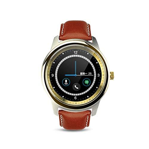 Luoshan DM365 1.33 Pulgadas IPS en Pantalla táctil capacitiva de Pantalla Completa MTK2502A-ARM7 Bluetooth 4.0 Smart Watch Phone, Compatible con Facebook/Whatsapp/Elevar a Pantalla Brillante/Gir