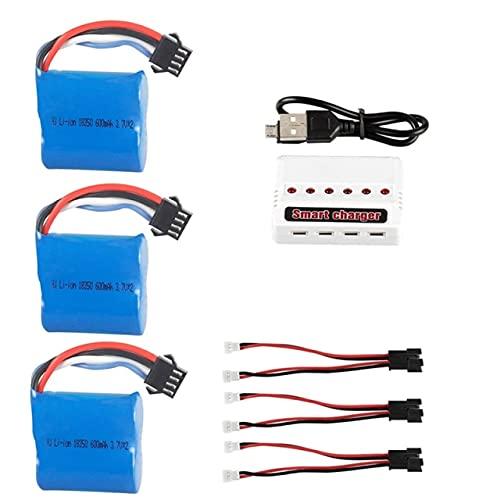 OUYBO 3.7V 600mAh 18350 Li-ione for UDI R/C UDI001 UDI011 Venom Velocità della barca 7.4V 600mAh Li-ion SM-4P 3.7v * 2 Sostituzione della batteria Accessori per batterie di parti RC