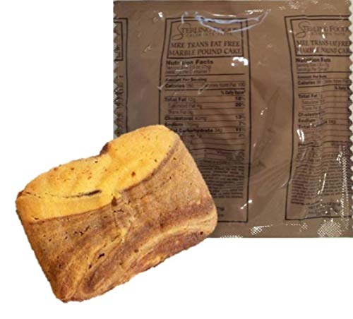 12 pack MRE Desserts / First Inspection date 2022 to 2024 / Fresh & Fast! (Marble Pound Cake)