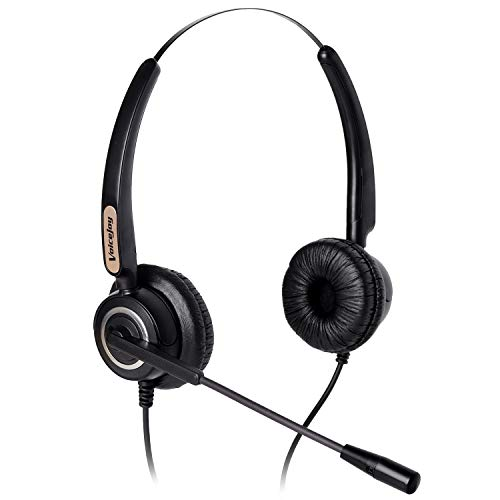 Corded RJ9 Phone Headset Binaural with Noise Canceling Microphone Only for Cisco IP Phones: Such as 6941 7942 7971 8841,8845, 8851, 8861,8945, 8961, 9951, 9971 etc