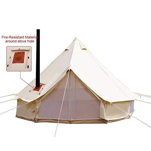 TentHome 4-Jahreszeiten wasserdichtes Baumwollglockenzelt mit Ofenloch auf dem Dach Glamping Zelt für Camping Travel Weihnachtsfeier