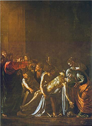 Caravaggio La resurrección de Lázaro Lienzo de Bricolaje Regalo de Pintura al óleo para Adultos niños Pintura por número Kits Decoraciones para el hogar