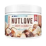 ALLNUTRITION - Crispy Hazelnut | Crema de Avellanas | Con Copos de Chocolate Blanco | Perfecto para Desayuno y Cena | 500 gramos