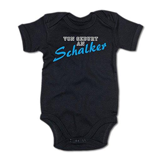 G-graphics Von Geburt an Schalker Baby-Body (250.0091) (0-3 Monate, schwarz)