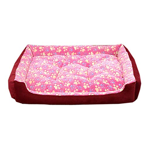 YGB New Durable Pet Bed, Dog Bed Machine Washable Pet Mattress Waterproof Liner Indoor Or Outdoor Use-pink Xxl