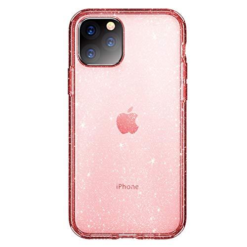 LWL House Shiny Series Funda Protectora de TPU + PC a Prueba de Golpes Case for iPhone 11 Pro Durable (Color : Transparent Pink)