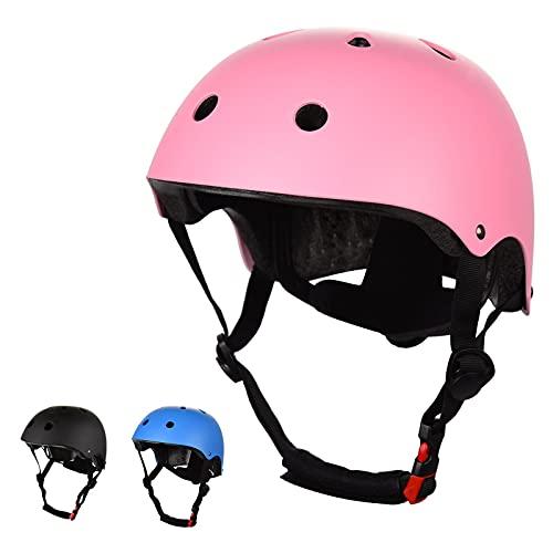 FORMIZON Skateboard-Helm, Kinderfahrradhelm, Kinder Skaterhelm Verstellbar Sicherheits-Kleinkindhelm Anti-Shock für Fahrrad Skateboard Scooter für Kinder Jugendliche