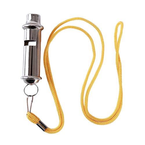 Eleusine Sifflet de sauvetage à tube double en acier inoxydable pour escalader les accessoires d'urgence de sécurité sportive