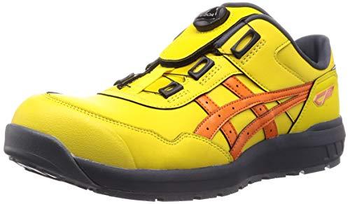 [アシックス] ワーキング 安全靴/作業靴 ウィンジョブ CP306 Boa JSAA A種先芯 耐滑ソール fuzeGEL搭載 ブライトイエロー/ハバネロ 24.5