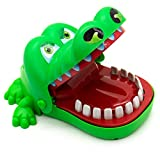 AUEAR, 1 Pack Lovely Funny Animal Biting Finger Teeth Dentist Biting Finger (Green Color, Crocodile)