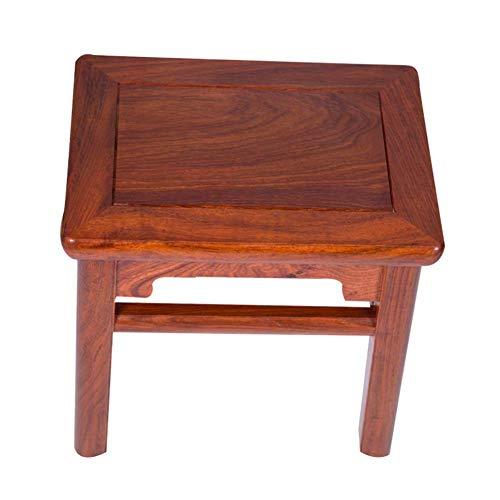 YIQIFEI sSquares Massivholz Mahagoni Home Wohnzimmer Wechselnde Schuhbank Couchtisch Dressing Chinesische kleine Holzbank