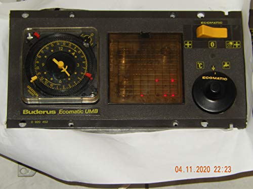 BUDERUS Ecomatic UMB-1-6-011 Heizungsregler mit analoge Schaltuhr, offiziell unbenutzt, war Ersatzteil im OVP aufbewahren